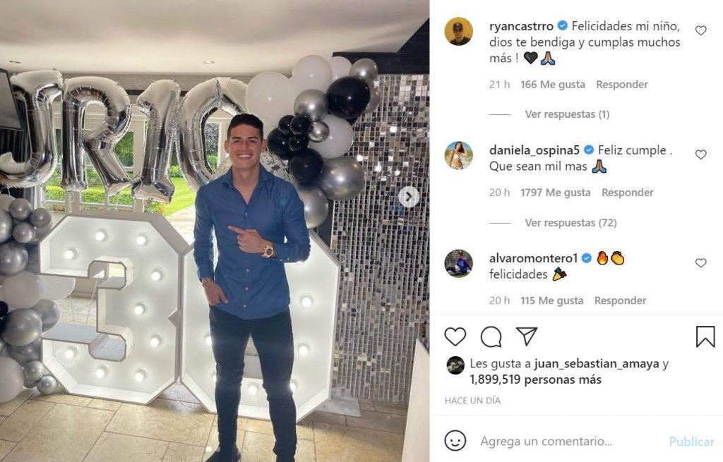 Instagram: James Rodríguez