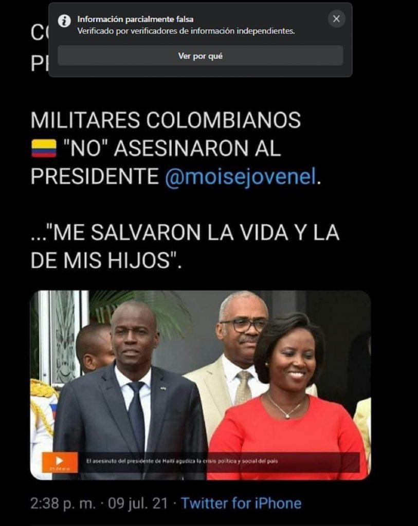 Fake News sobre primera dama de Haití