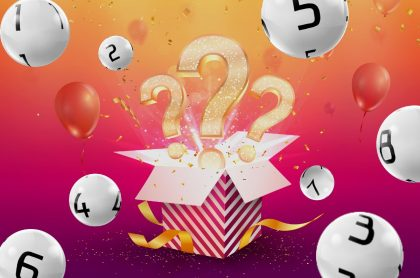 Balotas del 1 al 8 y caja de regalo sorpresa ilustran qué lotería jugó anoche y resultados loterías de la Cruz Roja y Huila julio 13 (fotomontaje Pulzo).