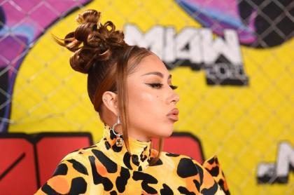 Kali Uchis brilló en la alfombra rosa de los MTV Miaw.