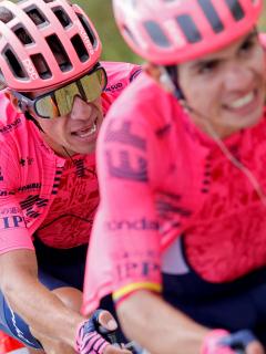 """Tour de Francia: Sergio Higuita, ángel de Rigoberto Urán: """"Di apoyo psicológico"""". Fotomontaje: Pulzo."""