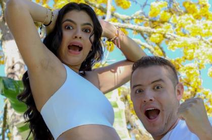 La periodista Sheyla García y su esposo, Sergio Henao.