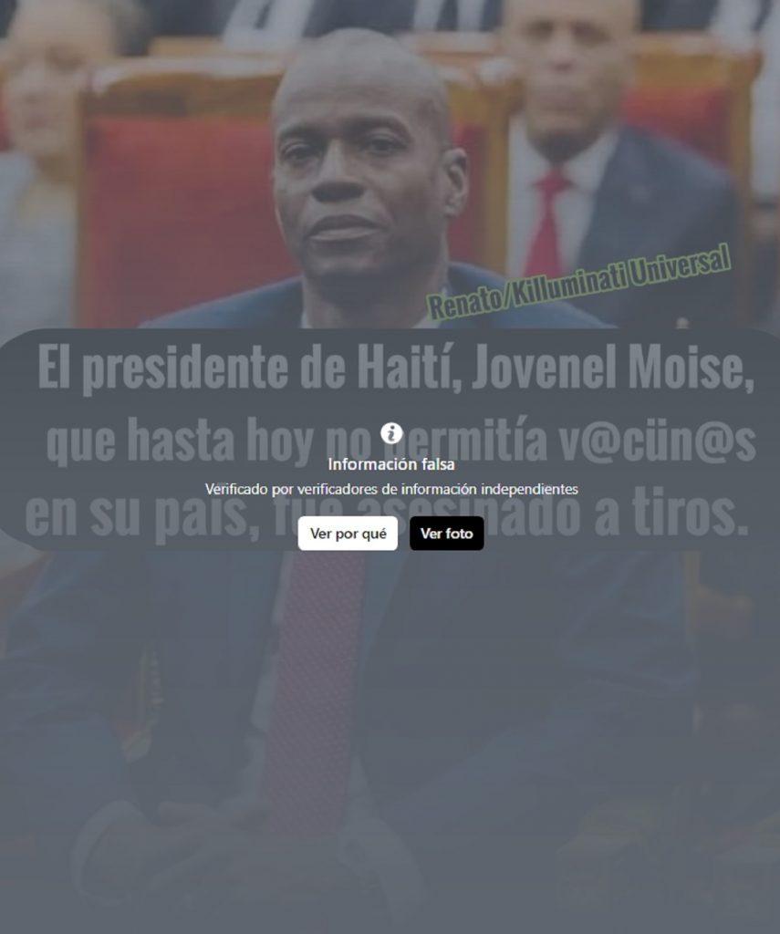 Fake sobre presidente de Haití