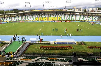 Deportes Quindío-Jaguares de Córdoba se jugará con público, en Armenia. Estadio del partido.