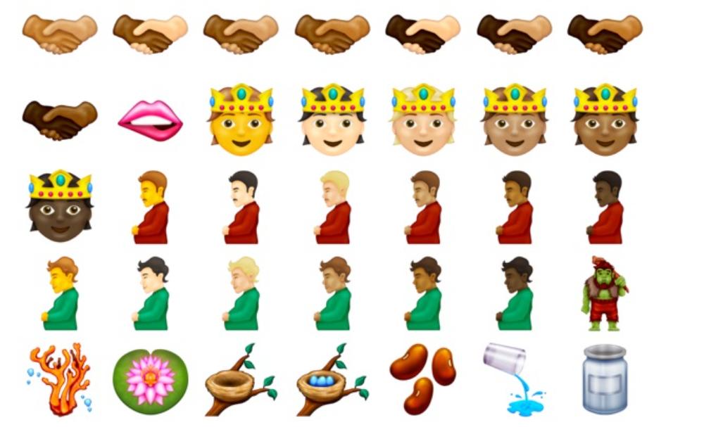 Algunos de los emojis mencionados/ Emojipedia