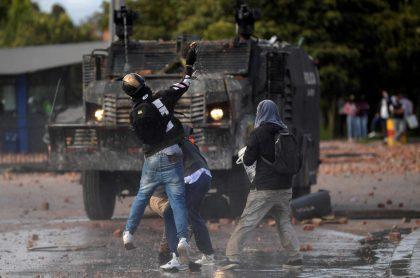 Protestas en Bogotá ilustra nota sobre planes que tendría el Eln para el 20 de julio