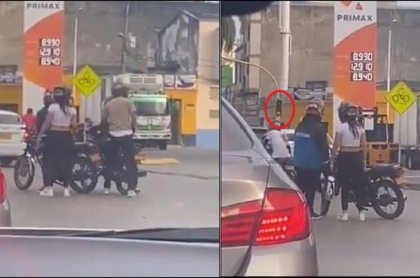 Imágenes de ladrones en moto que roban en semáforos de Cali