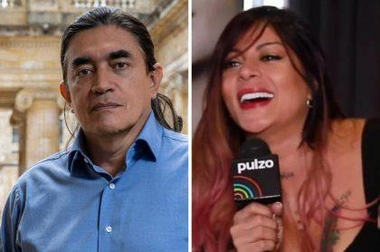 Gustavo Bolívar y Marbelle, quien se burló del senador por perder contra el voto en blanco