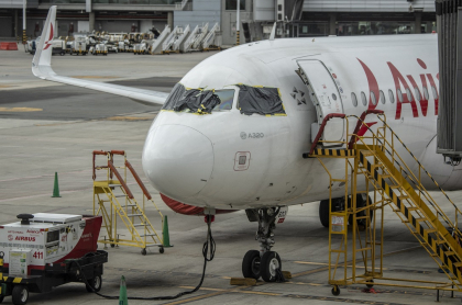 Imagen de un avión de Avianca, que ilustra información sobre incidente en el vuelo AV83 entre Los Ángeles y Bogotá