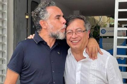 Los senadores Armando Benedetti y Gustavo Petro.