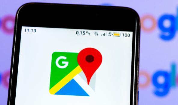 Foto de Google Maps, en nota de nueva función de esa aplicación que dice cuántas personas hay en buses.