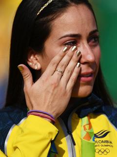 Fotos de Mariana Pajón y Falcao García, en nota de la relación que tienen ambos atletas.