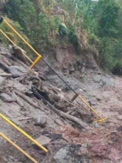 Imagen de deslizamiento que ilustra nota; Nariño: dos desaparecidos por deslizamientos y las fuertes lluvias