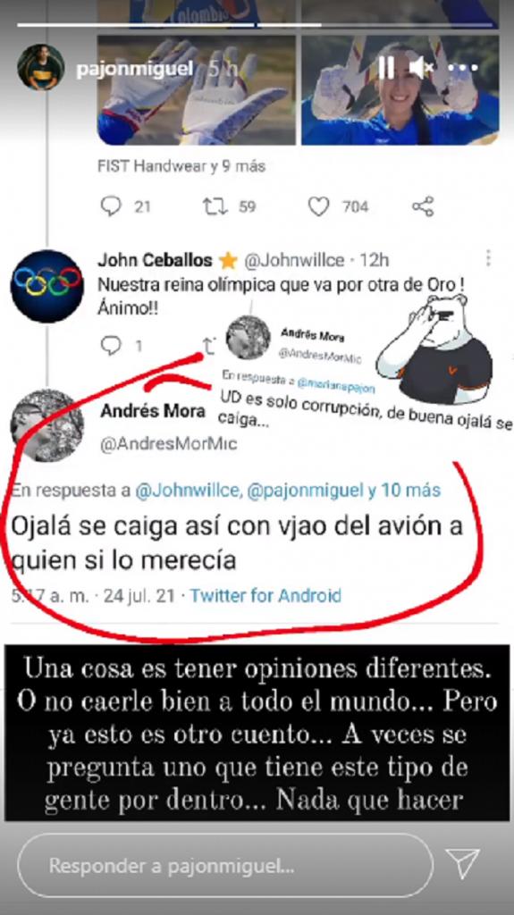 Ataques a Mariana Pajón por su esposo