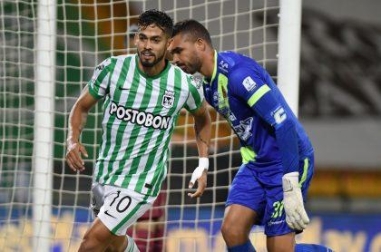 Goles y polémicas de Atlético Nacional y Deportes Tolima hoy en la Liga BetPlay