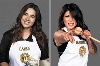 Carla Giraldo y Marbelle, quienes no llegarían a la final de Masterchef