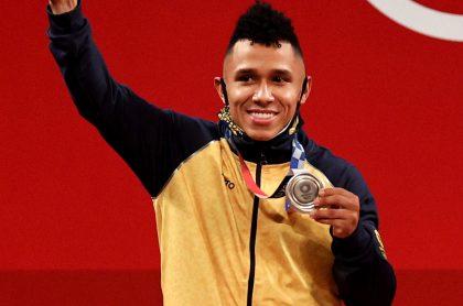 Foto de Luis Javier Mosquera, en nota de Colombia en medallero de Juegos Olímpicos, Tokio 2020.