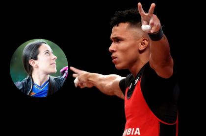 Fotos de Mariana Pajón y Luis Javier Mosquera, en declaraciones del atleta de Juegos Olímpicos.
