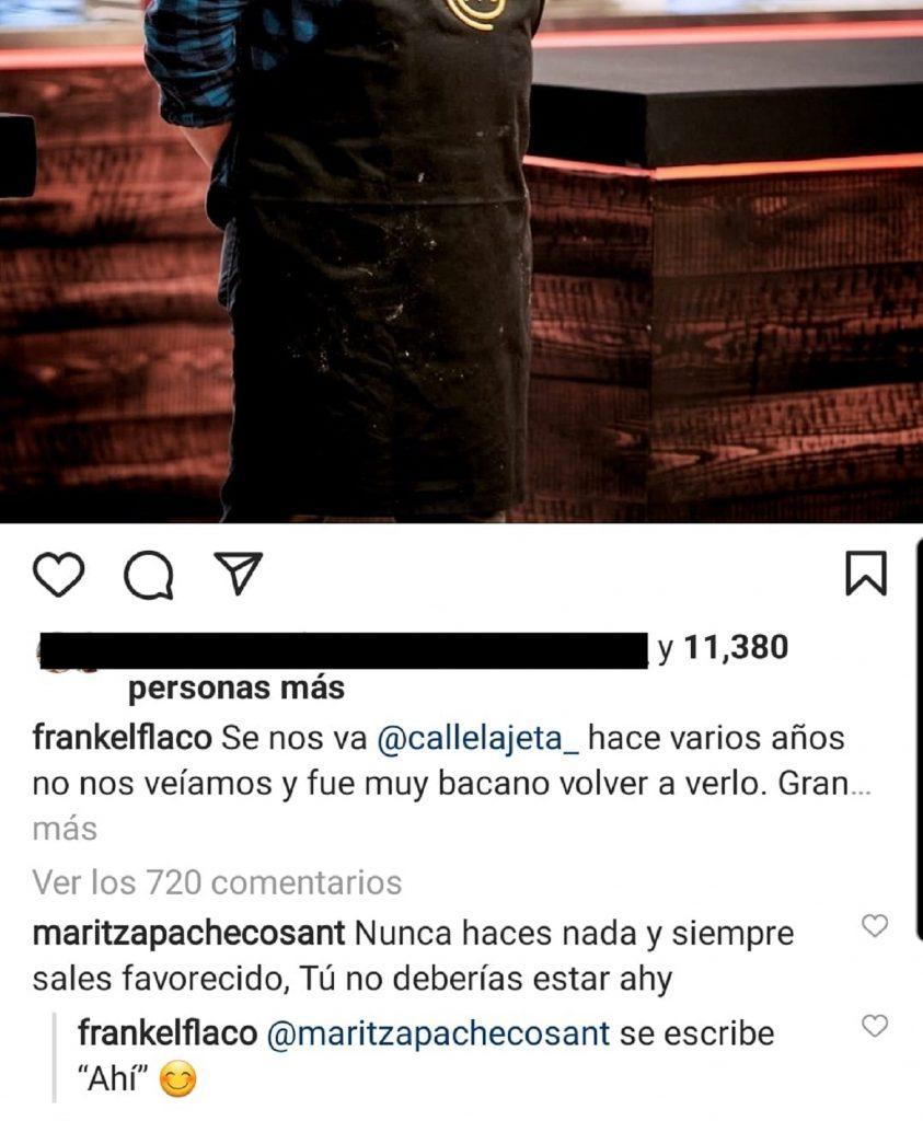 Tomada de Instagram @frankelflaco