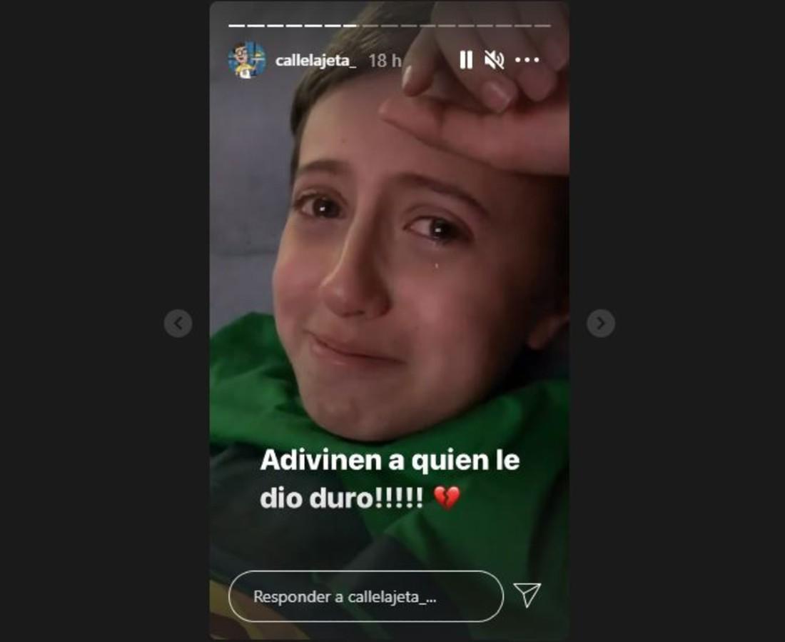 Captura de pantalla Instagram Freddy Beltrán