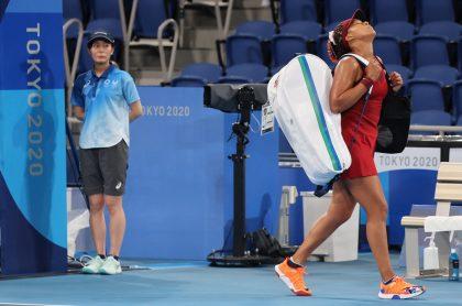 La tenista japonesa Naomi Osaka se despidió temprano de los Juegos Olímpicos de Tokio.