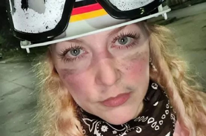 Rebecca Sprößer, alemana que se unió a la 'primera línea' en Cali.