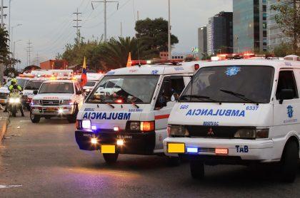 Ambulancias ilustran nota de las que no quisieron ayudar a un herido en Barranquilla
