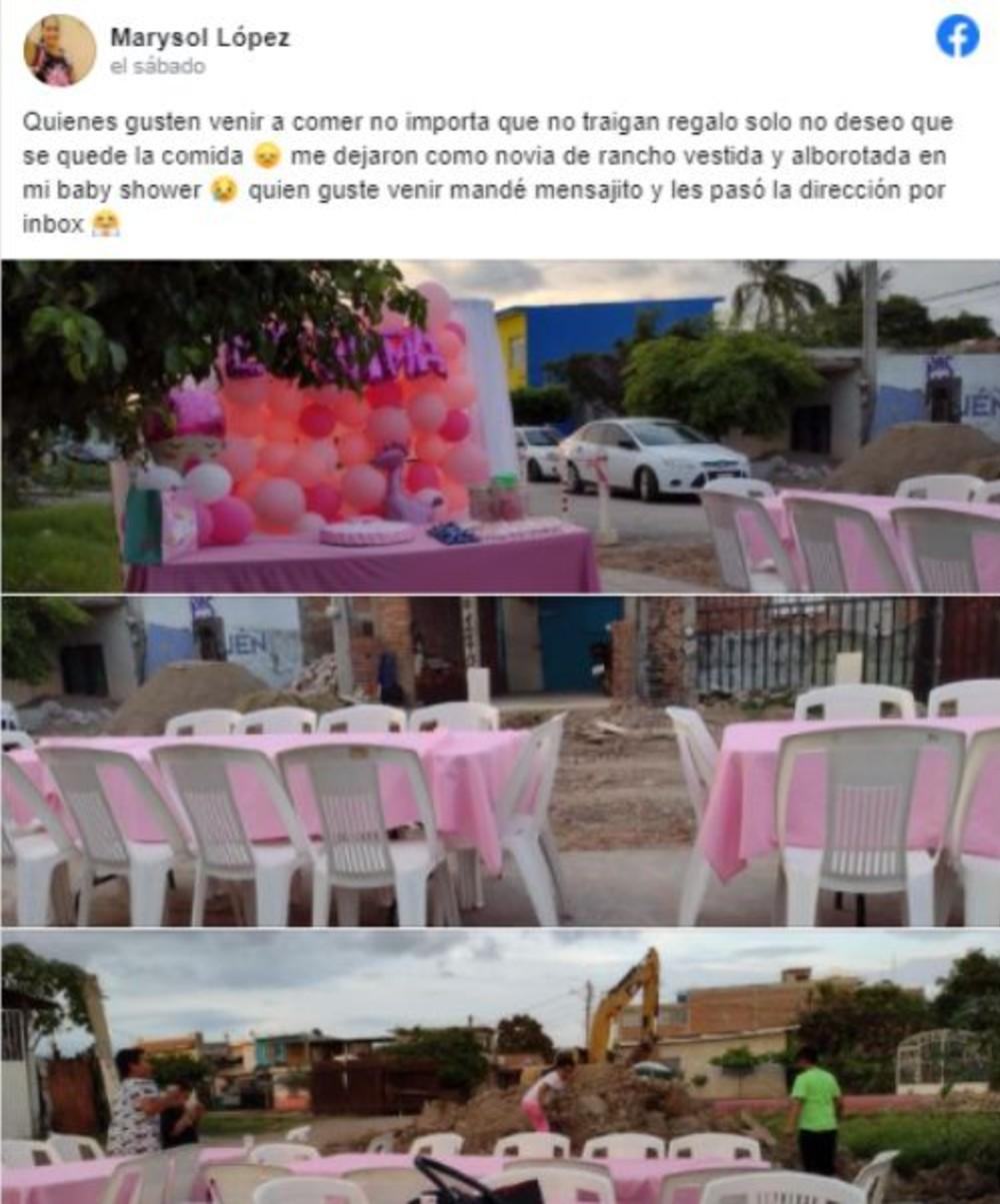 Captura de pantalla Facebook Marysol López