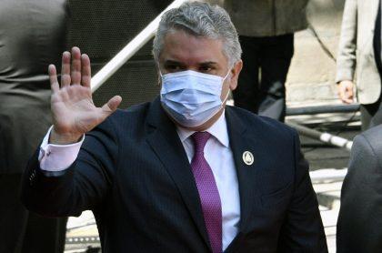Imagen del Iván Duque, presidente de Colombia, que criticó a políticos que obstruyen la reactivación, en feria de Colombiamoda