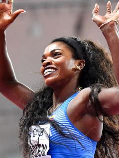 Caterine Ibargüen, finalista de los Juegos Olímpicos de Tokio 2020. Imagen de la colombiana.