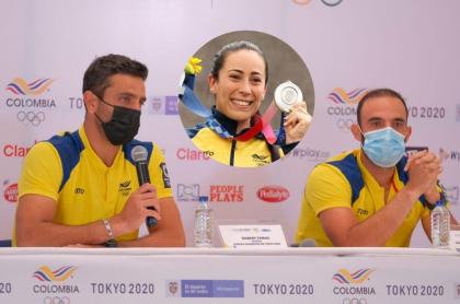 Foto de Juan Sebastián Cabal y Robert Farah y de Mariana Pajón, en nota de Olímpicos y qué dijeron de Mariana Pajón