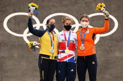 Mariana Pajón bromeó detrás de corredora que le ganó medalla de oro en los Juegos Olímpicos de Tokio.