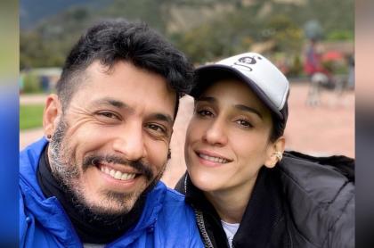 Foto de Shantiago Alarcón y de 'Chichila' Navia, a propósito de que ella dijo que no quería trabajar con él