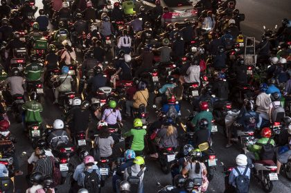 Motos ilustra nota sobre trancón de 5 horas que armaron motociclistas en Cali