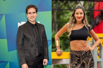 Daniel Arenas, actor y ex de Carolina Cruz, y Daniella Álvarez, en 'Desafío', a propósito de que dicen que están saliendo.