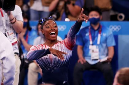 La estadounidense Simone Biles volvió a participar en Tokio 2020 y ganó medalla.