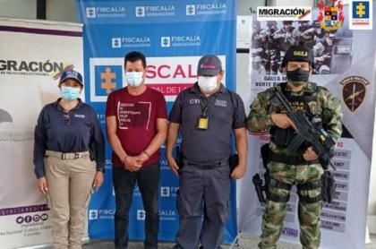 Fredy Alberto Ramírez, registrador en Norte de Santander capturado por falsificar documentos para que vendieran a niño venezolano