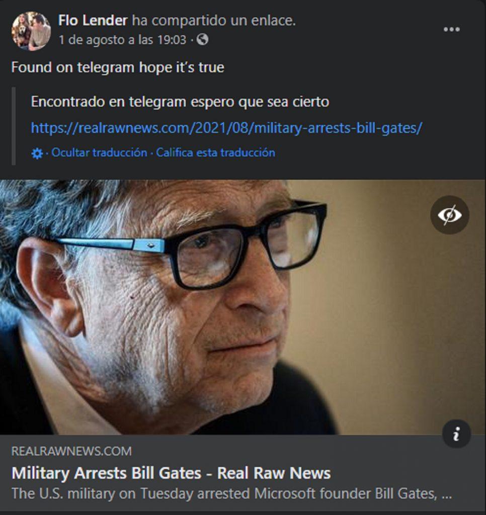 Fake sobre Bill Gates