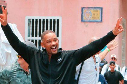 Imagen de Will Smith, que dio plata a vendedores de Cartagena y dinero no aparece