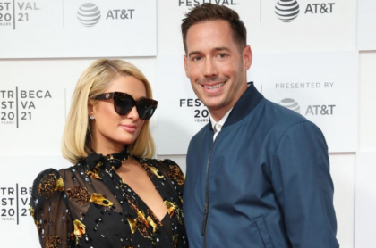 Paris Hilton, empresaria; junto a su novio Carter Reum, a propósito de supuesto embarazo
