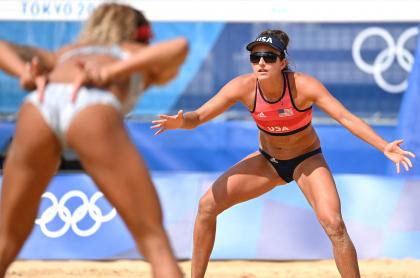 ¿Qué quieren decir las señales del voleibol?. Imagen de la modalidad de playa en los Juegos Olímpicos.