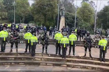 Imagen de Policía y Ejército que protegerán Puente de Boyacá, por manifestaciones del 7 de agosto