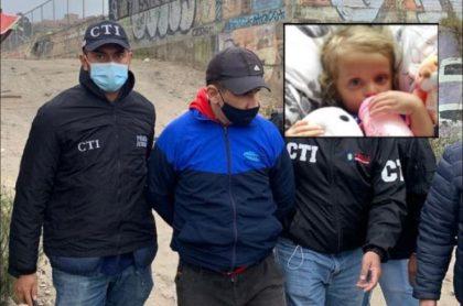 Momento en que el CTI de la Fiscalía captura a Nilson Díaz, por la desaparición de la niña Sara Sofía Galván en Bogotá