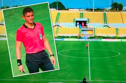Real Cartagena y Fortaleza no salieron a la cancha; dejaron plantado al árbitro. Fotomontaje: Pulzo.