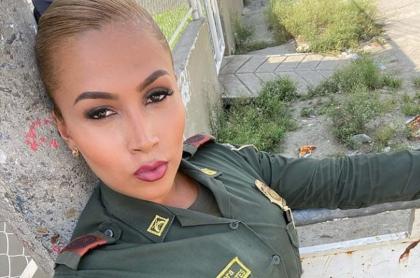Foto Andrea Cortés, en nota de policía transgénero de Colombia mostró su transformación a voz femenina.
