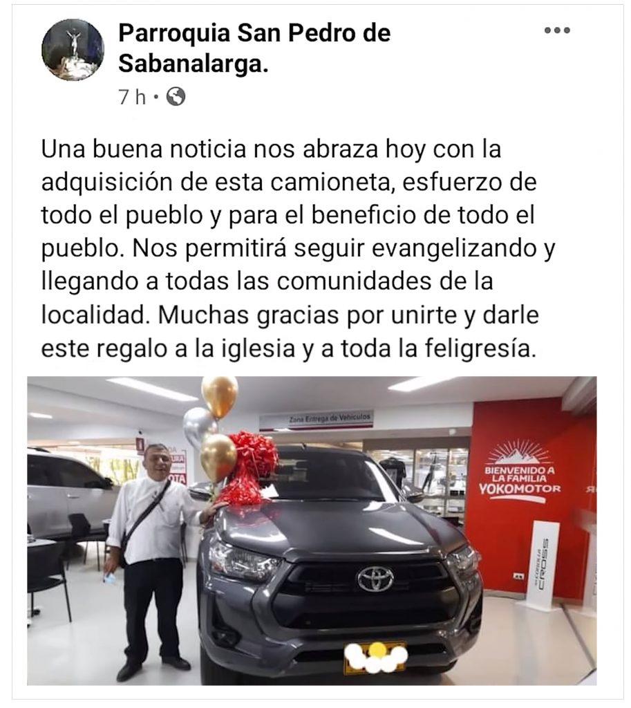 Parroquia San Pedro de Sabanalarga.