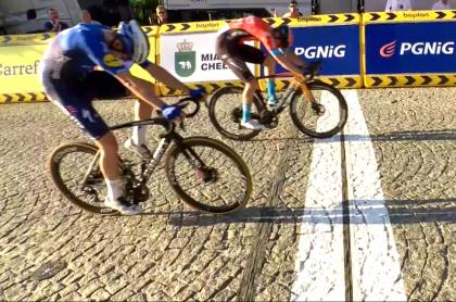 Álvaro Hodeg, segundo en Tour de Polonia y nuevo ciclista de UAE Emirates. Imagen de la definición.