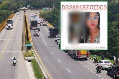 Imagen de la mujer que murió junto con su hijo en puente de Ibagué, y que fue reportada como desaparecida en Valle del Cauca