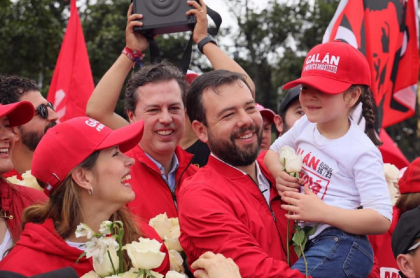 Juan Manuel y Carlos Fernando Galán, hijos de Luis Carlos Galán Sarmiento.