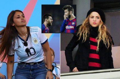 Antonella Rocuzzo, Lionel Messi, Gerard Piqué y Shakira, a propósito de versiones por las que se dice que Antonella y Shakira la van mal (fotomontaje Pulzo).